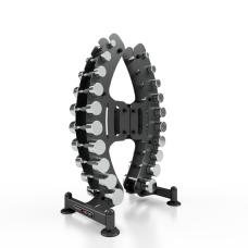 Chromuotu svorių kompletas nuo 1-10kg su stovu Marbo MP-S206