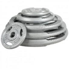 Pilkas metalo svoris 1.25-20 kg 31mm